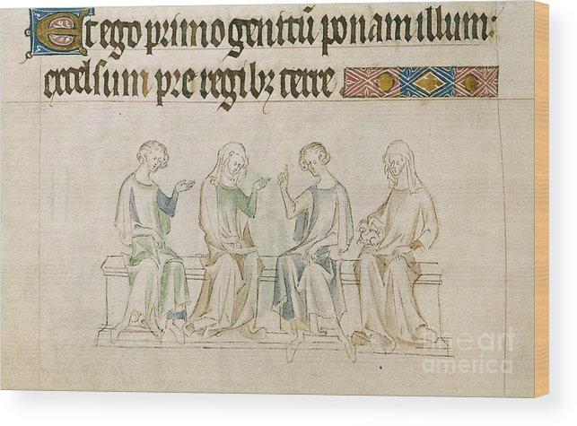 Furniture Wood Print featuring the photograph Queen Mary Psalter by British Library