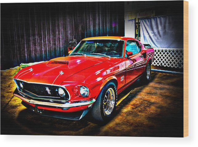 Boss Wood Print featuring the photograph 1969 Ford Boss 429 Mustang by Gavin Baker