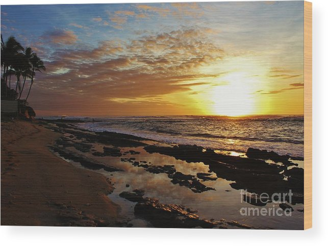 Sunset Wood Print featuring the photograph Westside Sunset by Craig Wood
