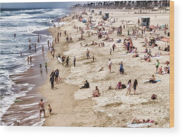 Beach Wood Print featuring the photograph Beach Stories by Clare VanderVeen