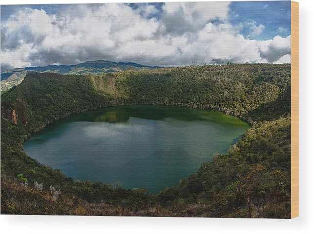 Lake Wood Print featuring the photograph Beautiful Lake Guatavita by Jess Kraft