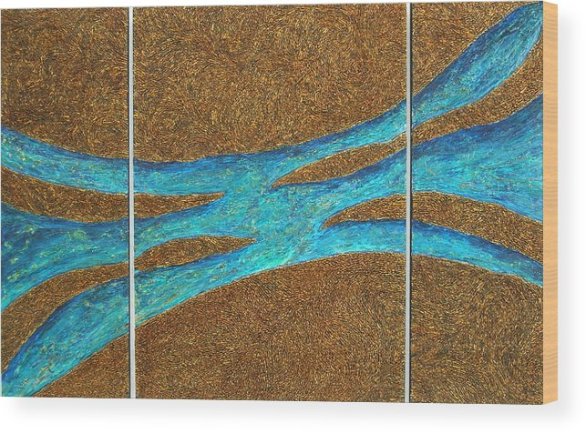 Interior Designers Wood Print featuring the mixed media Big Blue by Kaz Innes