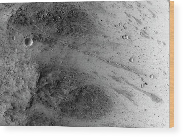 21st Century Wood Print featuring the photograph Boulder On Mars by Nasa/jpl-caltech/univ. Of Arizona