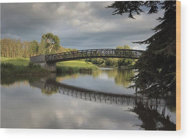 Ireland Wood Print featuring the pyrography Bridge To 18th Green by Barry Shepherd