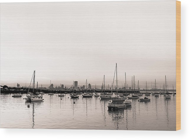 Milwaukee Harbor Wood Print featuring the photograph Calm Habor by Anna-Lee Cappaert
