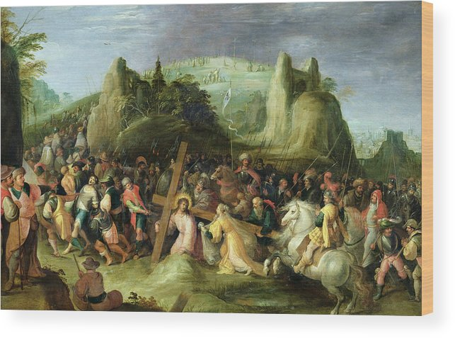 Son Of God Wood Print featuring the painting Christ On The Road To Calvary by Frans II the Younger Francken