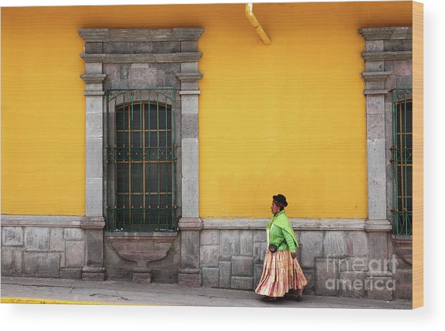 Peru Wood Print featuring the photograph Colonial Puno by James Brunker