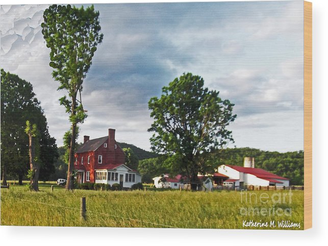 In Wood Print featuring the photograph Country Home by Katherine Williams
