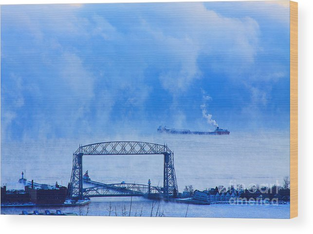 Lift Brigde Wood Print featuring the photograph Going In? by Jamie Rabold