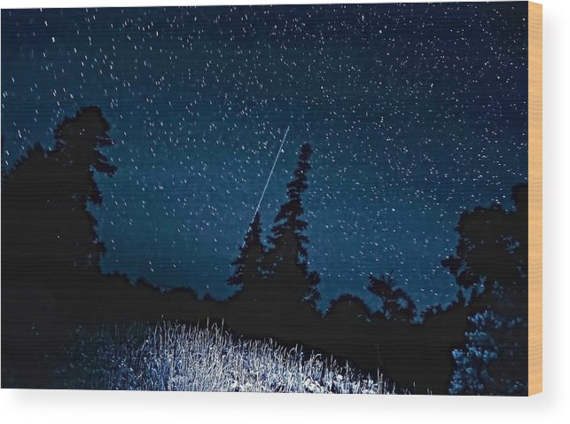 Galaxy Wood Print featuring the photograph Into The Night by Steve Harrington