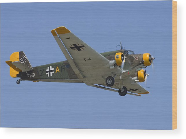 3scape Wood Print featuring the photograph Junkers Ju-52 by Adam Romanowicz