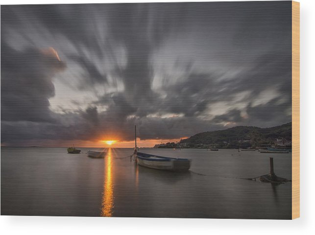 Sunset Wood Print featuring the photograph Kaneohe Bay Sunrise by Tin Lung Chao