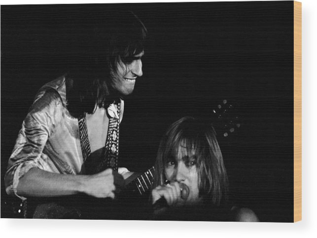 Head East Wood Print featuring the photograph Mike Somerville And John Schlitt Of Head East by Ben Upham