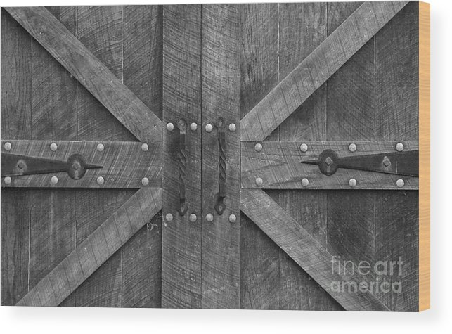 Antique Wood Print featuring the photograph Old Barn Door Pt 2 by Cindy Manero