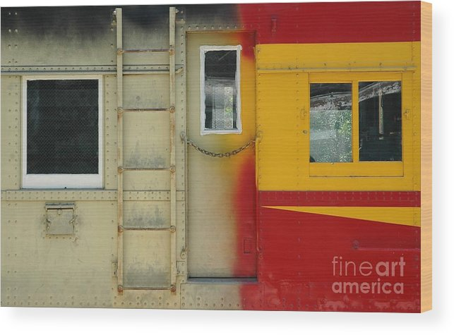 Train Wood Print featuring the photograph Partly Painted by Dan Holm