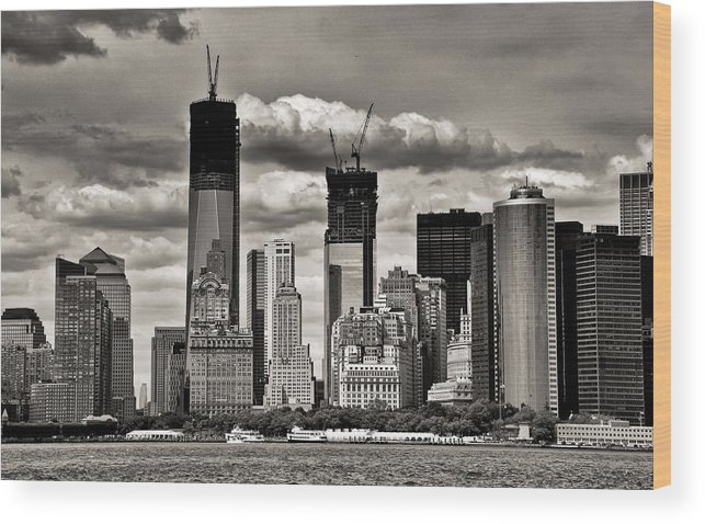 Architecture Wood Print featuring the photograph Rebuilding Ground Zero Nyc by Barbara Budzinski