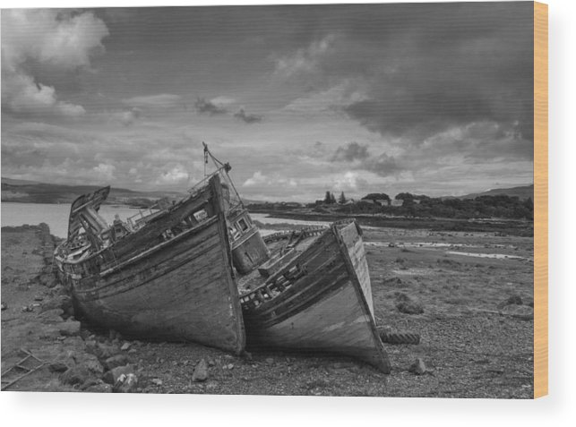 Scotland Wood Print featuring the photograph Shipwrecked by Jim Southwell