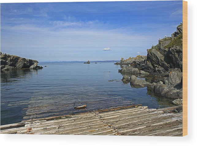 Seascape Wood Print featuring the photograph The Boat Launch by Qing