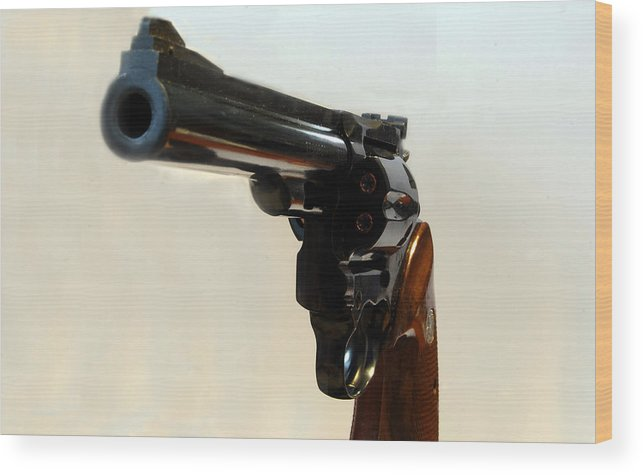 Weapon Wood Print featuring the photograph 357 Mag by Skip Willits