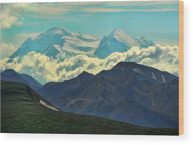 Denali Wood Print featuring the photograph Above The Clouds by Heather Applegate
