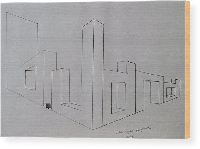 Pencil Wood Print featuring the drawing Pencil by Jana Barros
