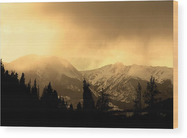 Landscape Wood Print featuring the photograph Stone by Colin McPhillips
