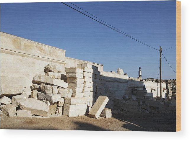 Interesting Wood Print featuring the photograph Tall Shadows Goreme Streets by Kantilal Patel