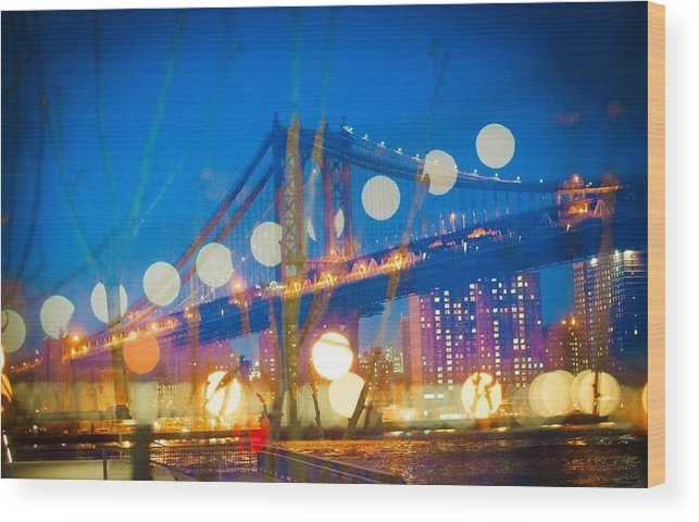 Wood Print featuring the photograph Brooklyn Bridge by Wenna Pang