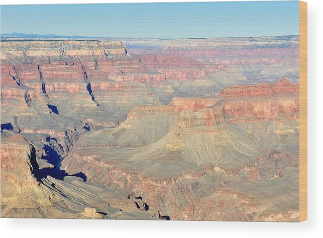 Grand Wood Print featuring the photograph Down The Canyon by Tom Dowd