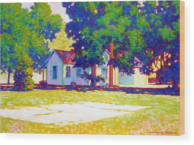 City Wood Print featuring the painting The Old Slab by Kevin Lawrence Leveque