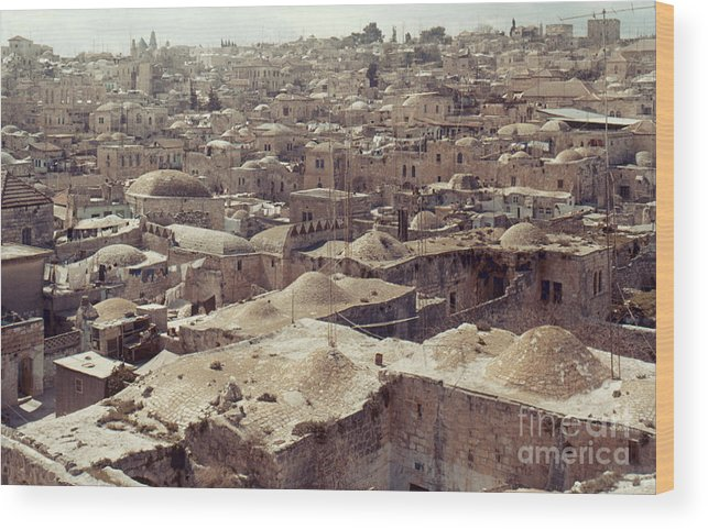 Architecture Wood Print featuring the photograph Holy Land: Jerusalem by Granger