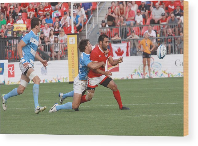 Rugby 7's Wood Print featuring the photograph Pamam Games Men's Rugby 7's by Hugh McClean