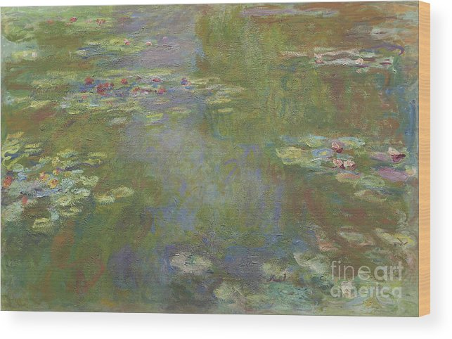 Monet Wood Print featuring the painting Water Lily Pond by Claude Monet