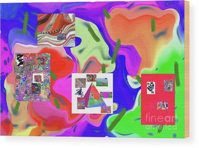 Walter Paul Bebirian Wood Print featuring the digital art 6-19-2015dabcdefghijklmnopqrtuvwxyzabcdefg by Walter Paul Bebirian