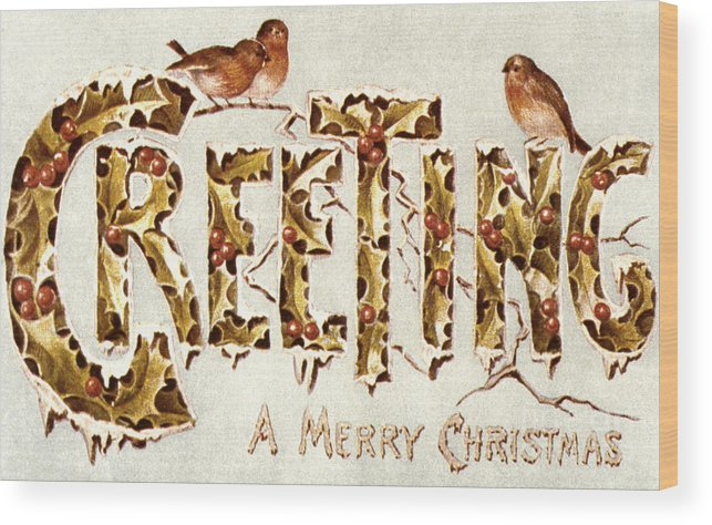 19th Century Wood Print featuring the painting American Christmas Card by Granger