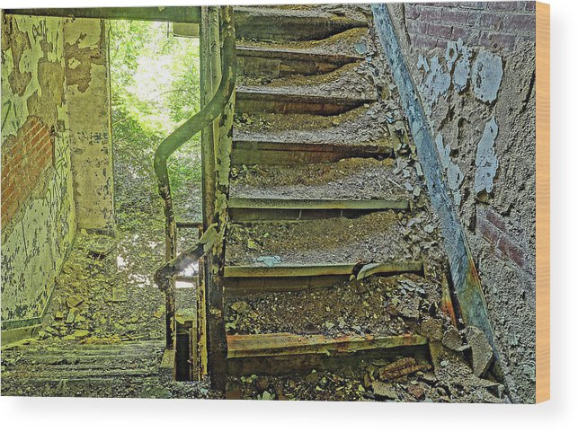 Stairs Wood Print featuring the photograph A Time Forgotten by Derek Casper
