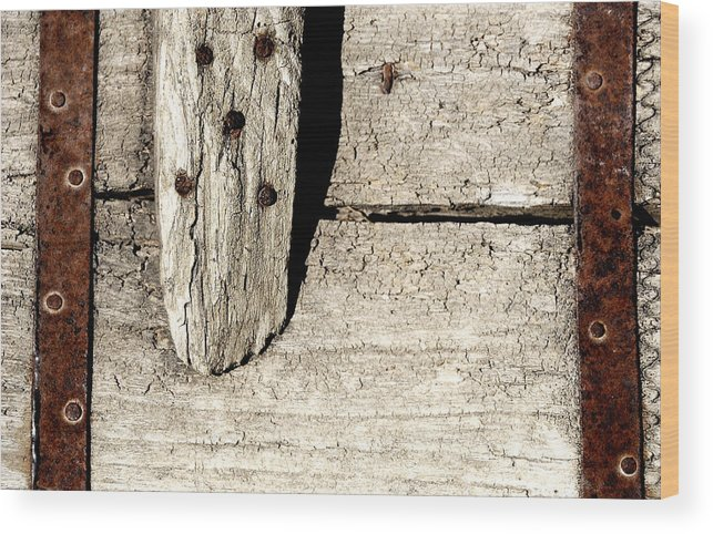 Nail Wood Print featuring the photograph Abstract by Apurva Madia