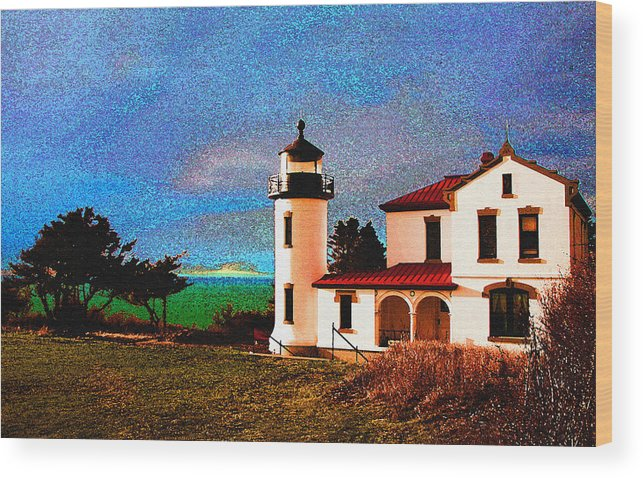 Lighthouse Wood Print featuring the photograph Admiralty Head Lighthouse Dp15 by Mary Gaines