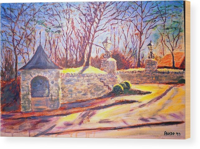 Oil Wood Print featuring the painting Afternoon At Clayton Road by Horacio Prada