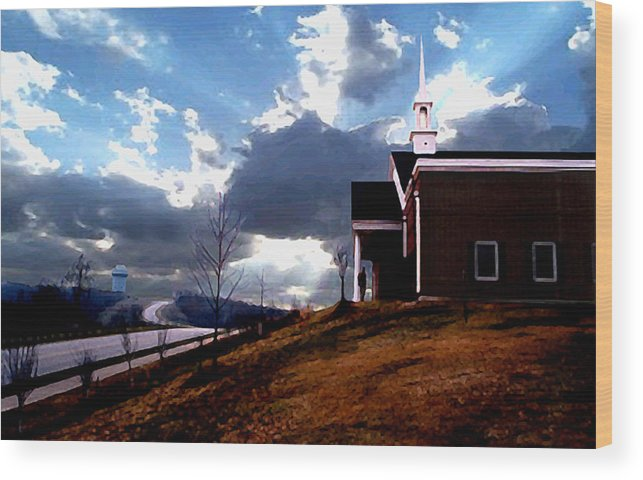 Landscape Wood Print featuring the photograph Blue Springs Landscape by Steve Karol