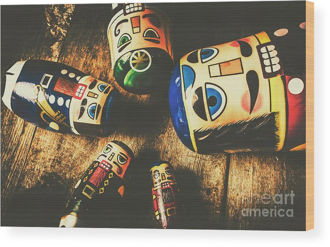Still Life Wood Print featuring the photograph Brainstorming Game by Jorgo Photography - Wall Art Gallery