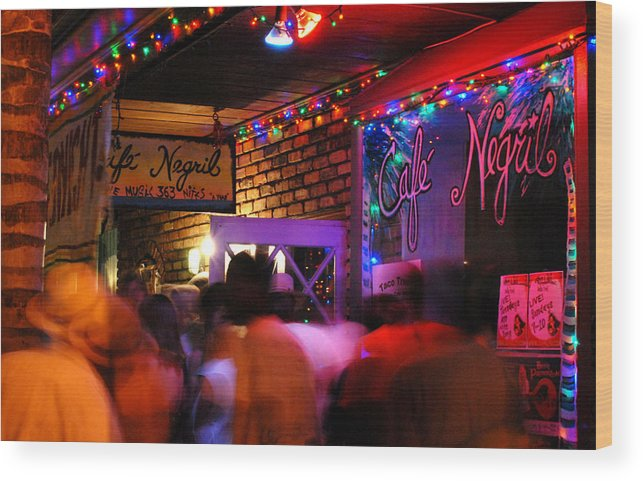 New Orleans Wood Print featuring the photograph Cafe Negril 2010 by Wayne Archer