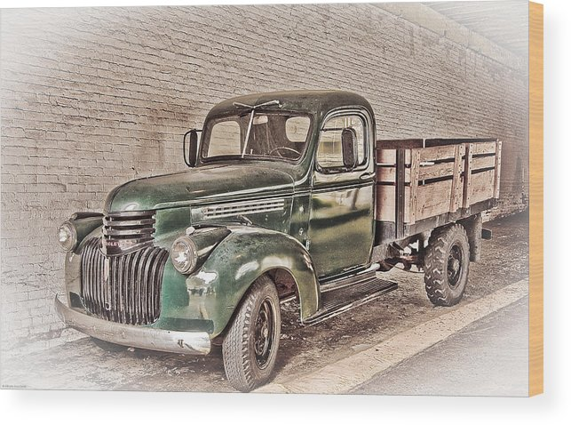 Truck Wood Print featuring the digital art Chevy Truck by Ches Black