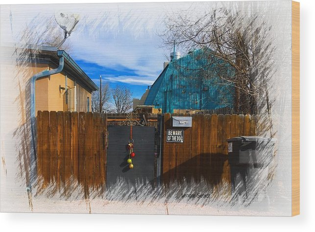 Expressive Wood Print featuring the photograph Christmas Down The Alleyway by Lenore Senior