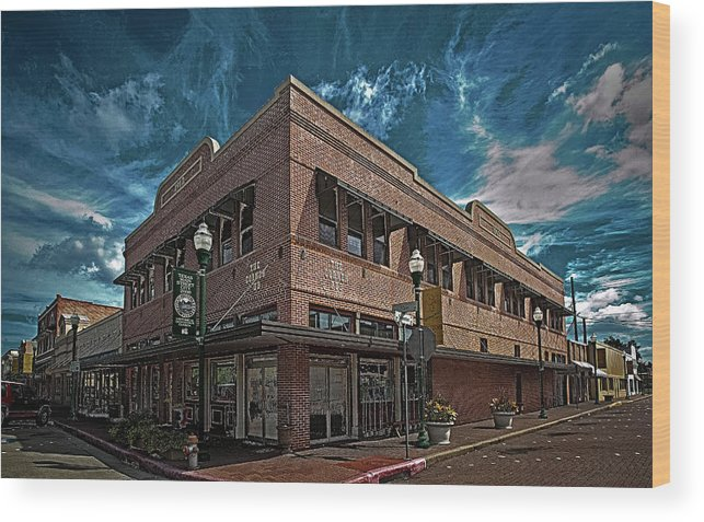 Hdr Color Photography Wood Print featuring the photograph Corner Pub by Wayne Denmark