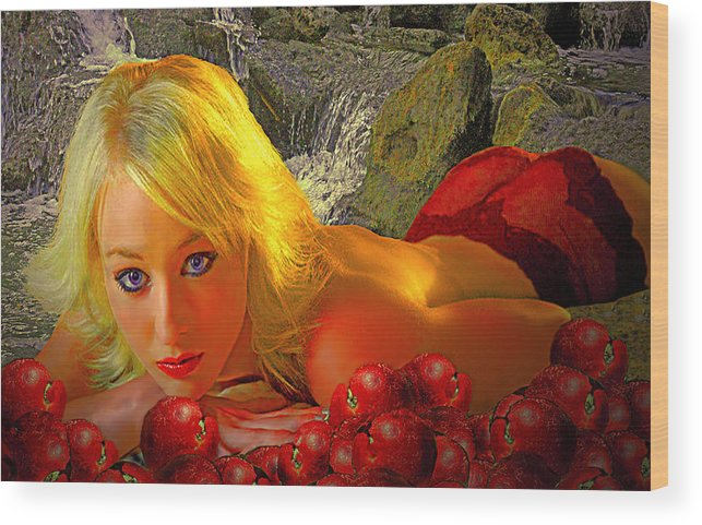Apple Wood Print featuring the photograph Eve In The Garden by Jeff Burgess