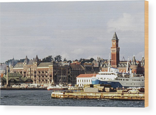 Sweden Wood Print featuring the photograph Halsingborg 1 by Lee Santa