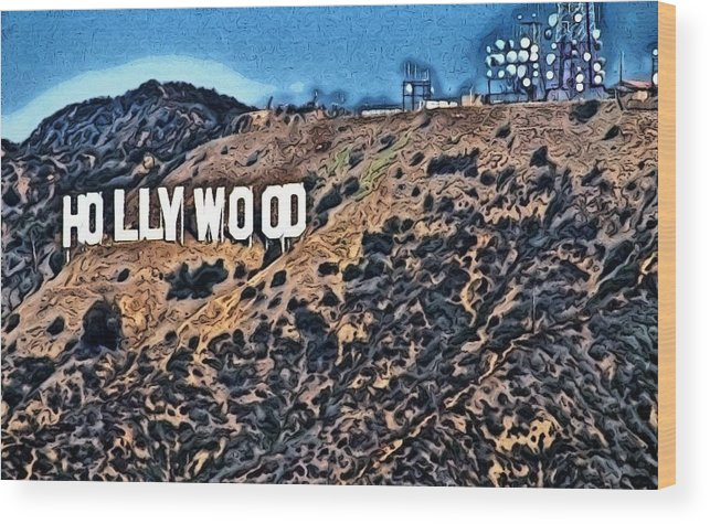 Hollywood Sign Wood Print featuring the photograph Hollywood Sign by Robert Butler