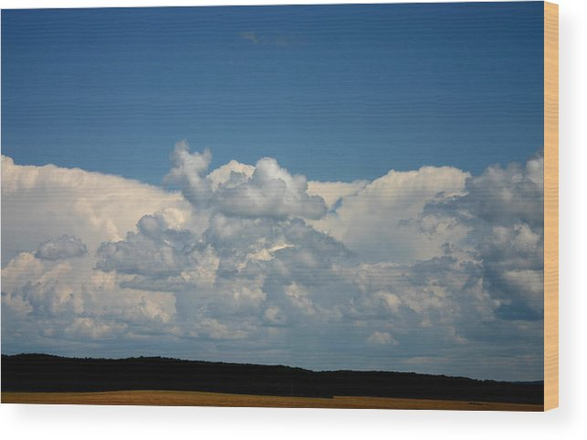 Cloud\ Wood Print featuring the photograph In Sight Of Hevan by Kevin Dunham