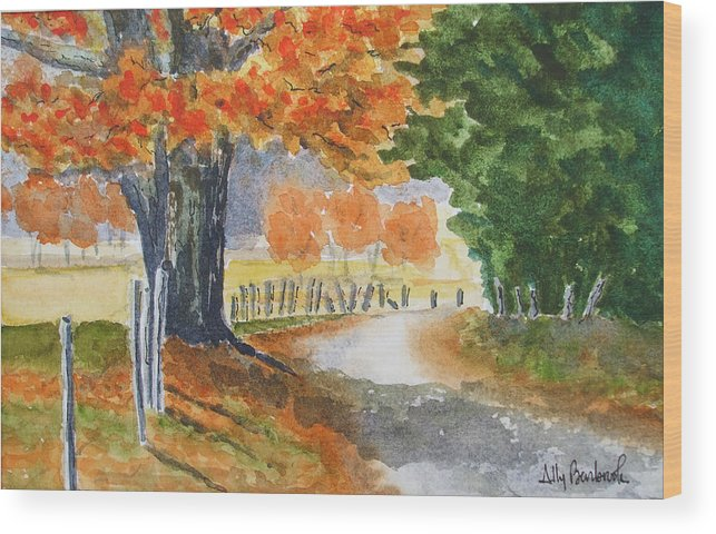 Autumn Wood Print featuring the painting Indian Summer by Ally Benbrook